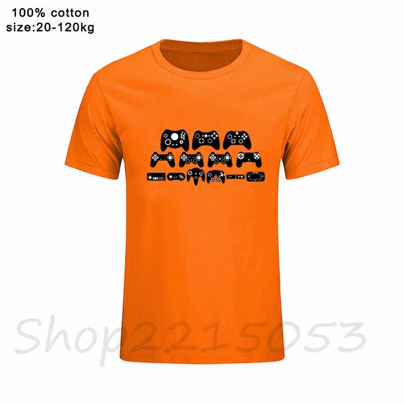 Camiseta Retro del videojuego de la evolución del Gamepad camisetas del logotipo de la PS camisetas de la playstation de Xbox PS1-PS4 ropa japonesa masculina del verano de la impresión