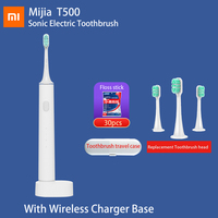 Xiaomi-cepillo de dientes eléctrico Xiaomi T500 Mi, dispositivo dental sónico de larga duración, IPX7, Mijia, con vibración magnética de alta frecuencia