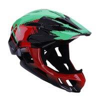 Crianças capacete de ciclismo com rosto cheio destacável crianças capacete mtb downhill capacete da bicicleta esportes segurança ciclismo
