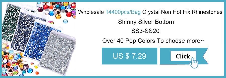 Wholesale 14400pcs Crystal Non Hot Fix Rhinestones
