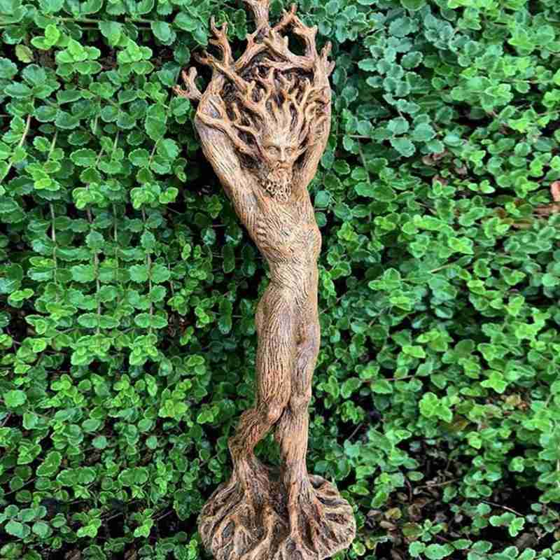 If you love ghosts and mysticism, buy this mask now! Forest Goddess Statue Resin Ornaments Garden Handicraft Ornaments Green Man Tree God Ornaments Home Decoration Art Figures Figurines Miniatures Aliexpress