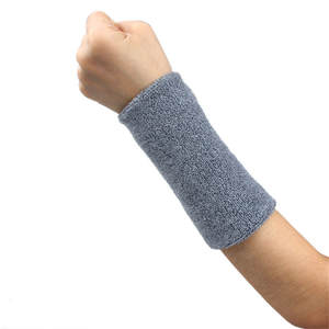 1 Unisex Cotton Sweat Band Wristband Armband Cotton and Fibre Material Effectively Sweats Basketball Tennis Gym Yoga Essentials