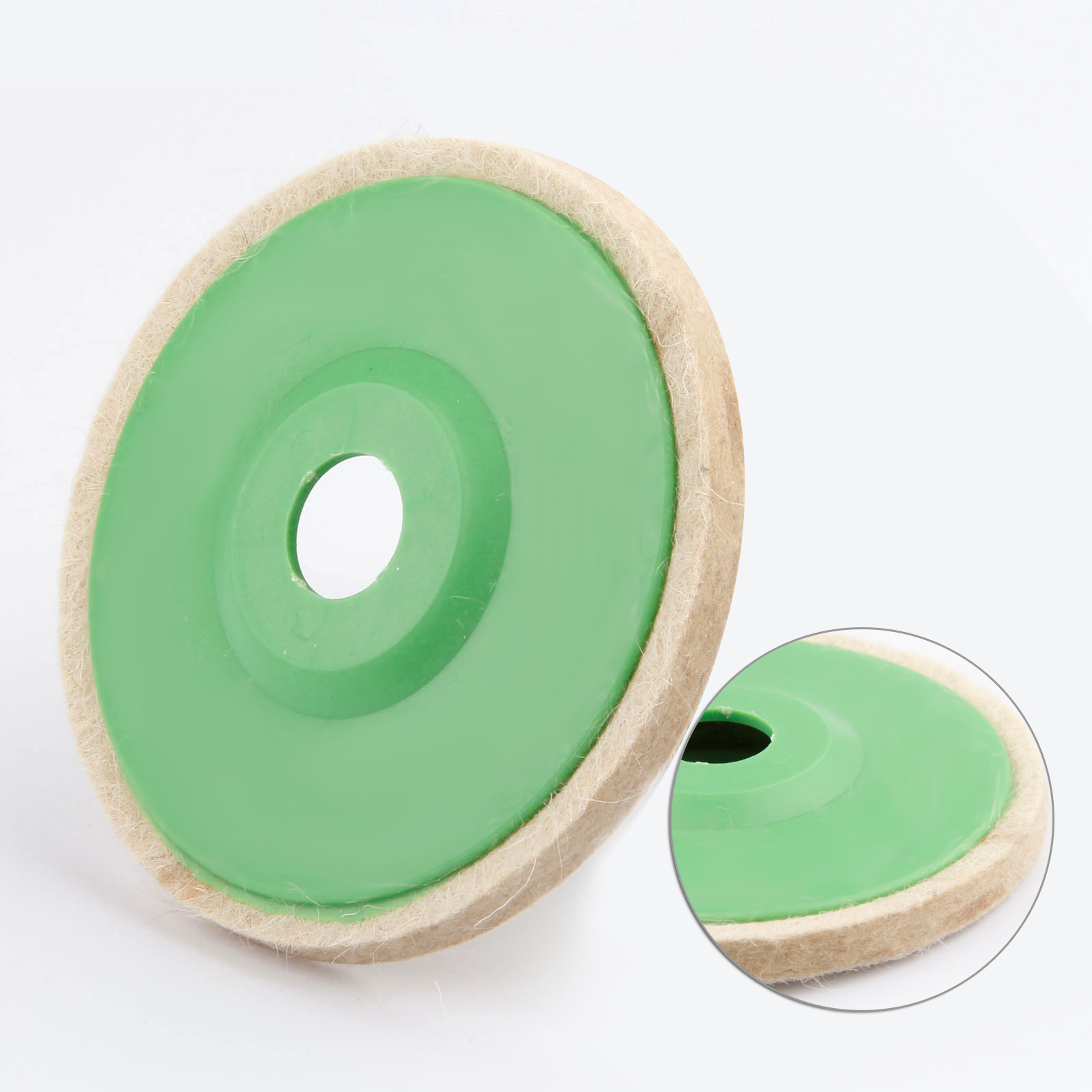 5in 125mm Wool Felt Grinding Wheel Pad Polishing Disc Buffer Polisher Tools  For Metal Marble Glass Ceramics