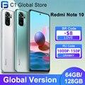 Глобальная версия Xiaomi Redmi Примечание 10 мобильный телефон 4GB оперативной памяти, 64 Гб встроенной памяти/128 ГБ ROM Snapdragon 678 Octa Core 48MP Quad Camera 33 Вт