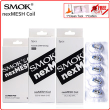 Núcleo original da resistência do cigarro do aquecedor de vape e do evaporador do vape da vagem da malha da c.c. nex ss316 da cabeça da bobina de smok nex