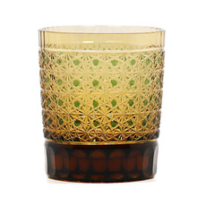 Hand Cut Glass Tumbler Crystal Old Fashioned Tumbler Glass For Whiskey Bourbon Water Beverage 8 Ounces Drinking Glass