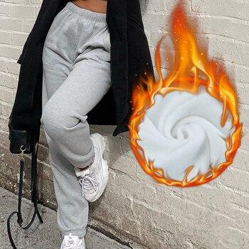 Rockmore Baggy Pencil Pants Women Plus Size Black Winter Wide Leg Sweat Pants Oversized Joggers Streetwear High Waisted Trousers 17