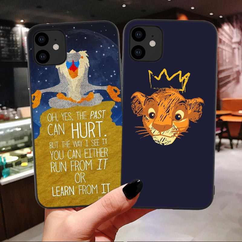 Lion king Simba nala Siliconen Telefoon Case voor iPhone 11 Pro Max 5.8 6.1 6.5 inch nieuwe 6 6S 7 8 Plus X XR XS Max Cover Coque Capa