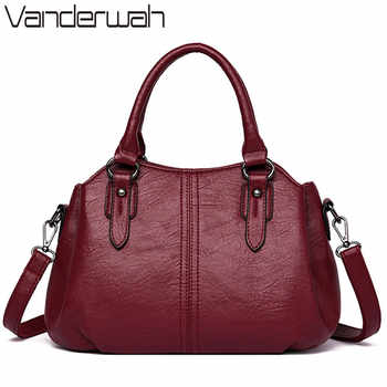 New Small Tote 3 layers leather luxury handbags women bags designer ladies hand crossbody bags for women 2018 sac a main femme - DISCOUNT ITEM  42% OFF Luggage & Bags