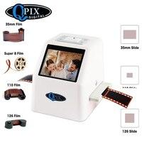 Portable Digital Film Slide Scanner Convert 35mm 135 110 126KPK Super 8 Slides & Negatives to 22 Mega Pixels JPEG 2.4LCD Screen
