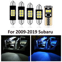 10 Pcs Car White Interior LED Light Bulbs Package For 2009 2017 2018 2019 Subaru Forester Map Dome License Lamp Light Styling