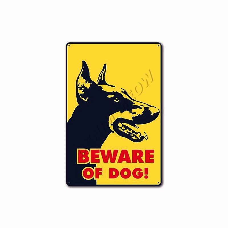 cuidado Signos placas de metal Perros /& Gatos precaución bienvenido cuidado Hogar