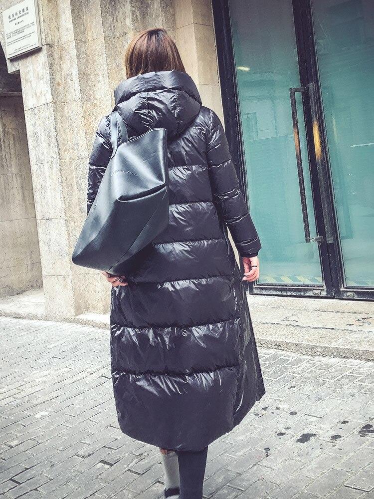 Winter Duck Down Jacket Women Long Hoody Windproof Parka Mujer Warm Thicken Coat Female Puffer Jacket Doudoune Femme LX2546