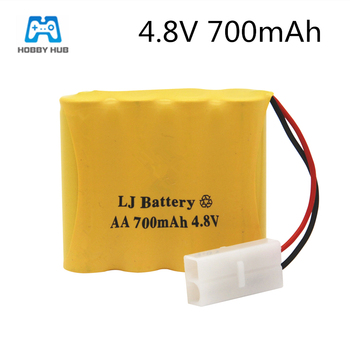 4.8v 700mah Ni-Cd Battery nicd AA 4.8v rechargeable battery pack for RC cars 4.8v RC boat toy Battery 4.8 V 700 Ni-Cd Battery image