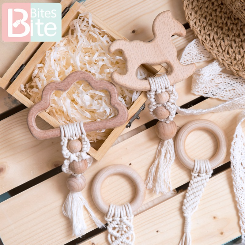 Bite Bites 1Pc Baby Teething Hanging Toys Wooden Rattles Toys For Children Stroller Pendant Baby Bed Bell Rattle Crib Mobiles
