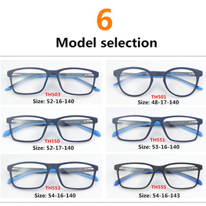 Image 4 - 2020 العلامة التجارية TR90 نظارات إطار الرجال قصر النظر الكمبيوتر إطارات نظارات طبية النساء الترا ضوء مربع العين إطارات النظارات للرجال TH503