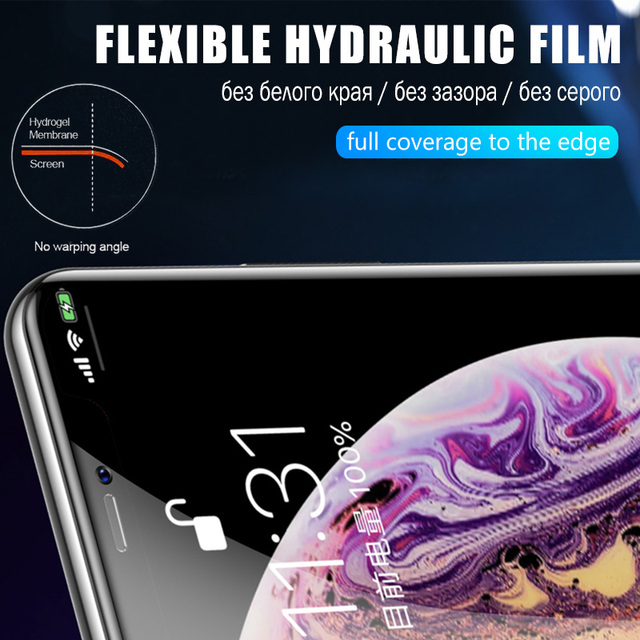 Full Cover Hydrogel Film For iPhone 11 12 Pro XS Max mini Screen Protector For iPhone SE 2020 XR X 7 6 6s 8 Plus Film Not Glass 5