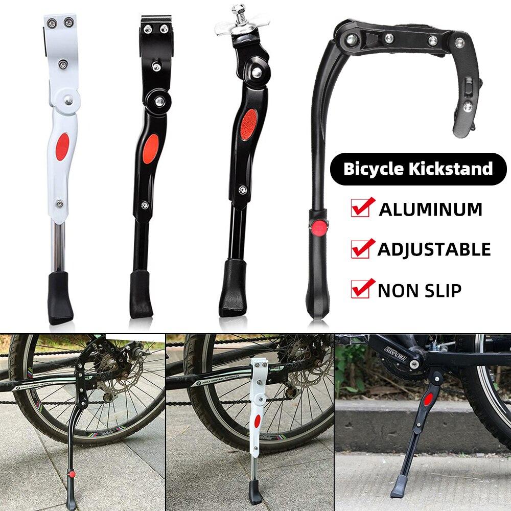 자전거 자전거 킥 스탠드 조정 가능한 MTB 도로 자전거 사이드 킥 스탠드 자전거 주차 스탠드 지원 발 자전거 브레이스 사이클링 부품