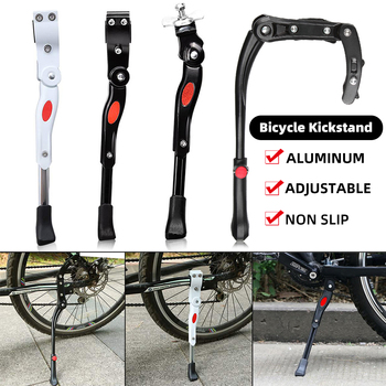 Bicycle Bike Kickstand Adjustable MTB Road Bicycle Side Kickstand Bike Parking Stand Support Foot Bicycle Brace Cycling Parts 34cm adjustable mtb bicycle kickstand parking rack road mountain support side kick stand foot brace cycling parts bike hold z50