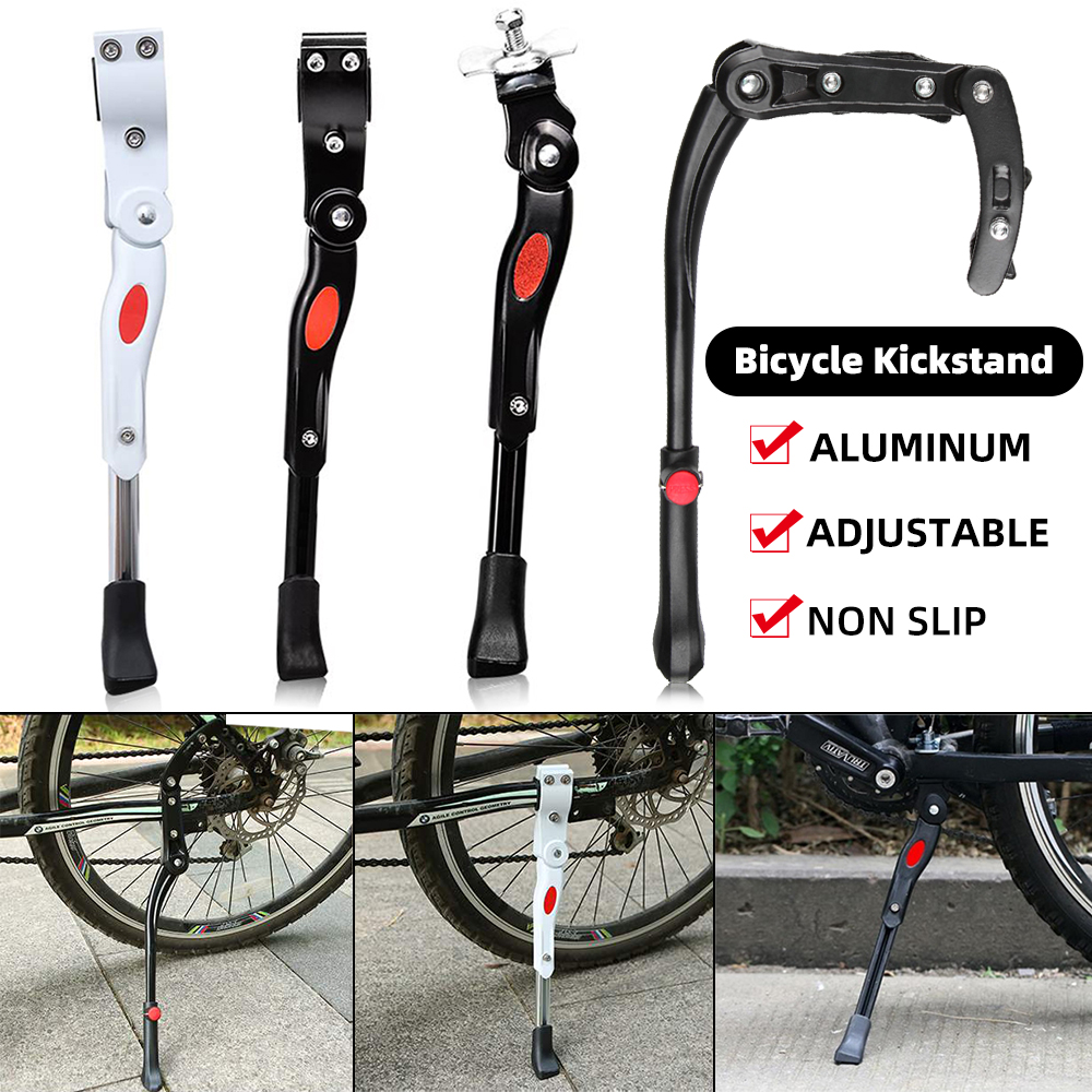 Bisiklet bisiklet Kickstand ayarlanabilir MTB yol bisiklet yan Kickstand bisiklet park standı destek ayak bisiklet Brace bisiklet parçaları