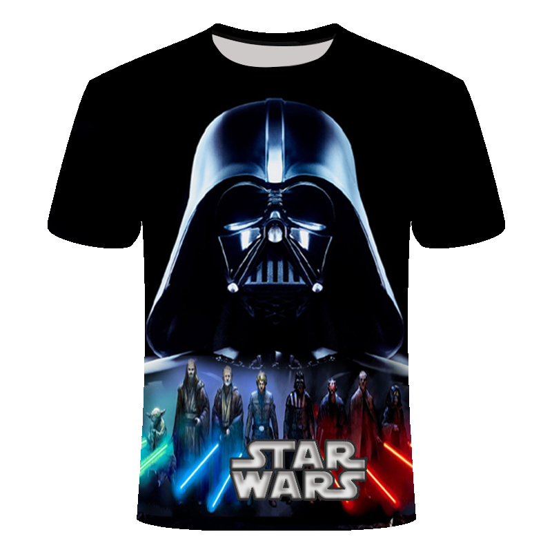 2019 Newest 3D Printed Star Wars T Shirt Men Women Summer Short Sleeve Funny Top Tees Fashion Casual Clothing Asia Size T-shirt