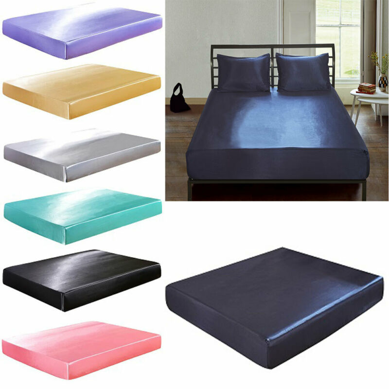 60X80in Waterproof Deep Fitted Sheet Portable Solid Bed Sheets Mattress Cover Protector