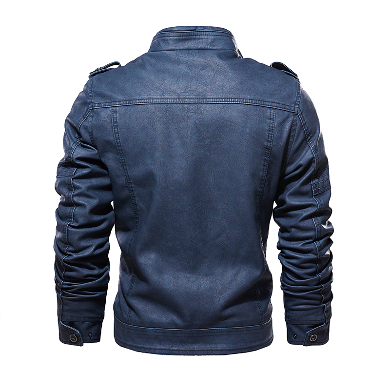 Image 3 - Leather Jackets Men 2019 Winter PU Jacket Coats Thick Fleece Warm  leather coat Brand Mens Clothes Street Vintage Jacket CostumeJackets