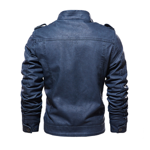 Image 3 - Leather Jackets Men 2019 Winter PU Jacket Coats Thick Fleece Warm leather coat Brand Mens Clothes Street Vintage Jacket Costume