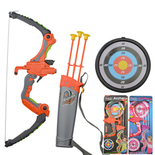 1 set Kids Archery Bow And Arrow Set Safe Shooting Hunting Game for Garden Park Fun Toxophily Children Kids Toys Gift цена