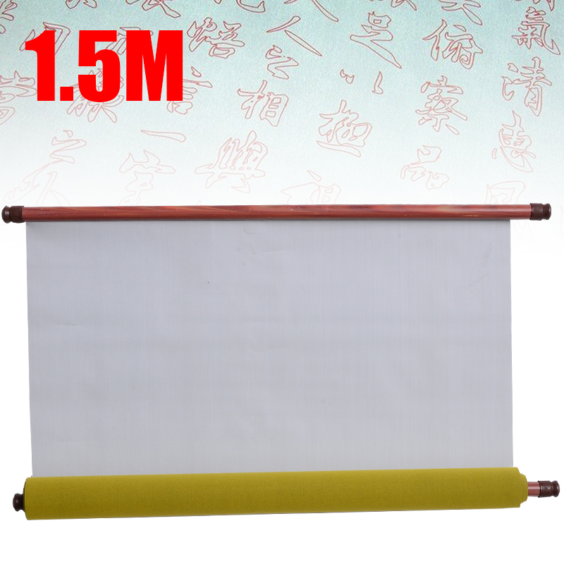 Portable Magic Chinese Water Writing Cloth Reusable Water Paper Calligraphy Fabric Notebook For Children Artists Gifts 1.5m