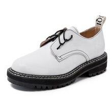 Женская обувь в стиле ретро из натуральной кожи; Новинка 2021 года; Весенние Молодежные туфли в британском стиле; Женские туфли-оксфорды на то...