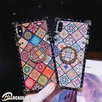 Para Samsung Nota 10 Pro 9 8 A50 A70 S20 Ultra S10 S9 S8 Plus A10 A30 A20 M20 M30 Chinês Praça Blue Ray Anel Fique Case Capa