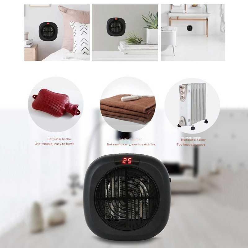 Top vente 900W Mini chauffage électrique mural souffleur d'air chaud maison bureau radiateurs muraux salle de bains radiateur ventilateur chauffage avec