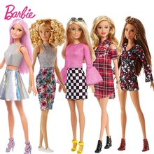 Original Barbie Dolls Brand rainbow Assortment Fashionista Girl Rock Style Doll Kids Birthday Gift bonecas toys for girls