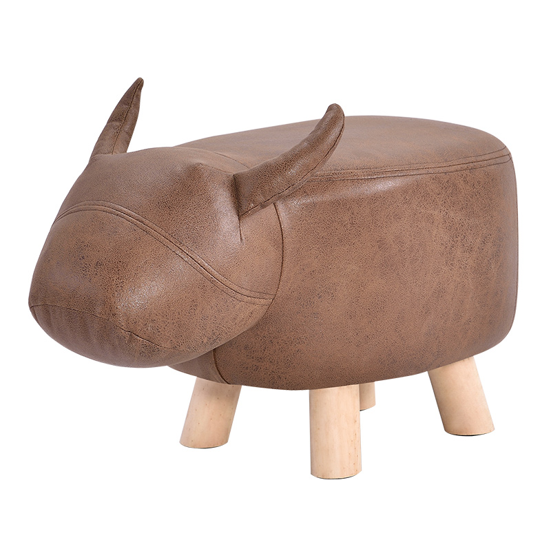 Solid Wood Sofa Stool Fashion Creative Calf Children Animal Shoes Bench Bench Home Footstool Stool Small Wooden Stool