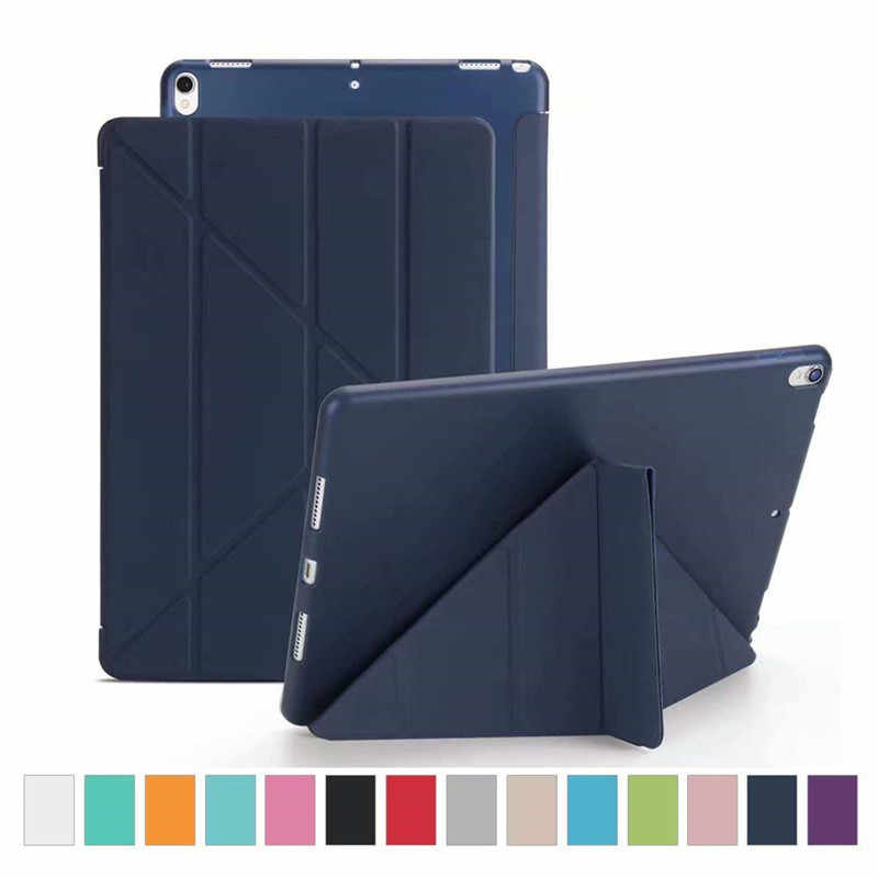 iPad Pro 10.5 Case Origami Ultra Slim Smart Cover Soft TPU Back for New iPad Pro 10.5 2017 Model Multicolor