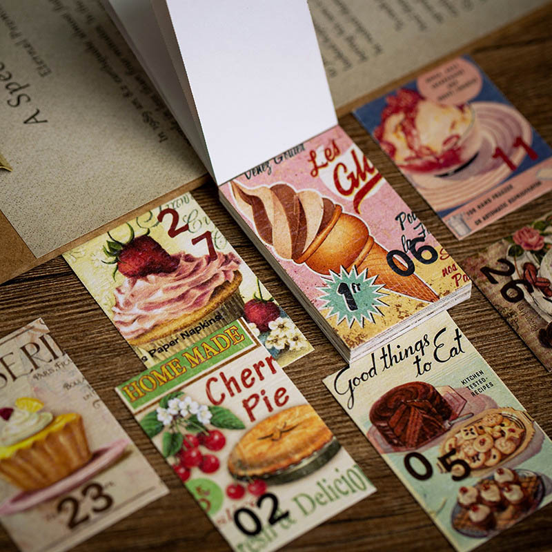 31 feuilles Vintage bloc-Notes rétro Mini Notes autocollantes Scrapbooking autocollants journal intime décoration papeterie bloc-Notes