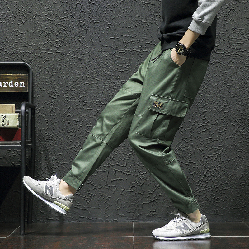 2018 Men Army Green Cargo Pants Man Joggers Boost Military Cotton Pants Hip Hop Harem Pants Mens Outdoors Ankle-Length Trousers