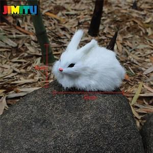 Image 2 - 15CM Mini Cute Rabbits/Chicks Plush Toys Fur Lifelike Animal Easter Bunny Simulation Rabbit Toy Model Birthday Gift