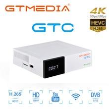 Gtmedia GTC Satellite Empfänger 4k dvb t2 rezeptor DVB S2 DVB-C ISDB-T Amlogic S905D 2GB + 16GB android tv box m3u ccam freesat