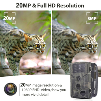 1080P HC802A Hunting Camera 0.5s Trigger Time Wildlife Trail Cameras IP65 Night Version Photo Trap Surveillance Hunter's Cams