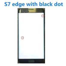 """الأصلي 5.5 """"AMOLED LCD لسامسونج غالاكسي S7 حافة lcd G935U G935F Lcd عرض تعمل باللمس رقمنة مع النقاط السوداء"""