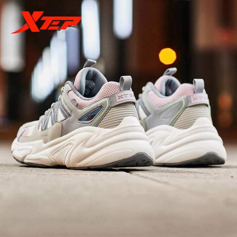 Xtep Women's Casual Shoes Summer Sports Chunky Sneakers Shoes Women's Breathable Casual Old Sneakers 881318329127 4