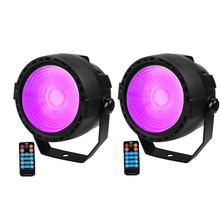 2 Pcs/lot Remote Kontrol Nirkabel RGB + UV Efek 30W Tongkol LED Lighting DMX LED Lampu PAR Profesional untuk DJ Party Club Disco(China)