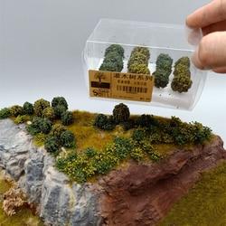 12Pcs/set Simulation Bush Tree Scene Model For 1:35/1:48/1:72/1:87 Scale Sand Table Tree Miniatures Landscape Decor