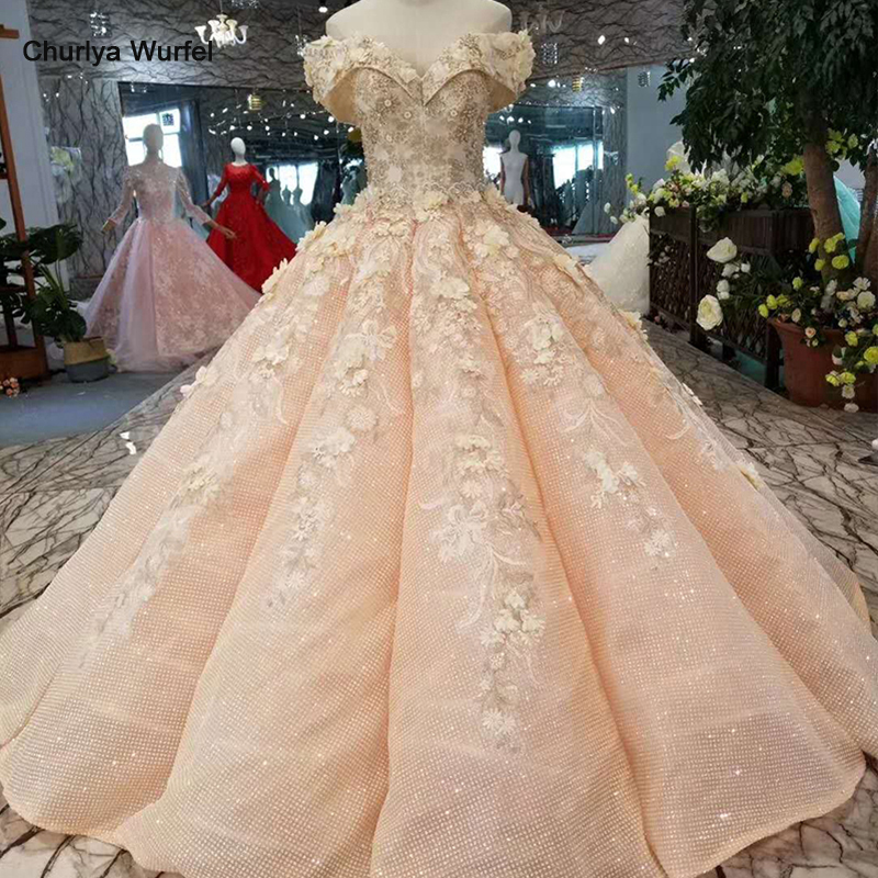 LSS168 girls prom dress ball gown off the shoulder sweetheart pink women occasion dress curve shape