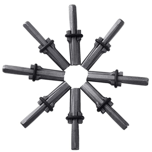 8 Set 5/8 Inch Plug Wiggen Veer Shims Beton Rots Steen Splitter Handgereedschap 16Mm