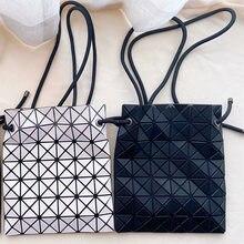 2021 nowa luksusowa wersja sznurkiem torebki damskie 6*6 siatka japonia styl kobiet torba oryginalna wysokiej Quanlity składana torebka