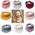 Muslin Gauze Baby Bibs Newborn Boys Girls Burp Cloth Bandana Cotton Toddler Scarf Infant Saliva Towel Scarves Unisex Baby Stuff