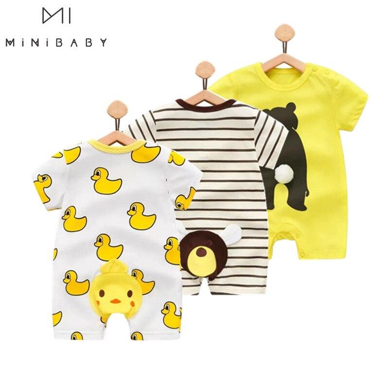 Orangemom 2019 Summer Baby Boy Bodysuits PP Cartoon Cute Overalls For Infants Baby Jumpsuit ,  Roupa Menino  Vestidos Body